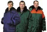Спецодежда зимняя общего  назначения : теплые куртки и теплые брюки