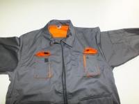 КОСТЮМ ITP модельный серый с оранжевой отделкой из саржи