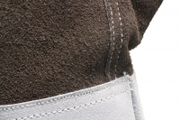 швы перчатки краги бело-коричневой
