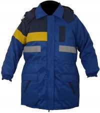 Куртка ITP сине-желтая со светоотражающими полосами