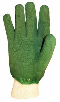перчатки х/б с напыленным взбитым  латексом