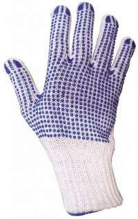 перчатки х/б трикотажные сдвухсторонней пвх точкой