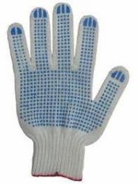 перчатки х/б трикотажные вязанные с пвх точкой