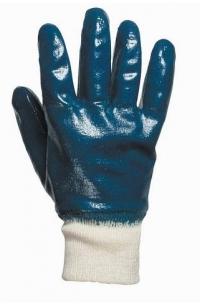 перчатки мбс х/б-нитрил синие с трикотажным манжетом