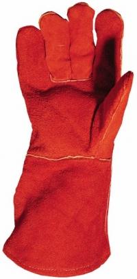 перчатки с крагами спилковые на подкладке.