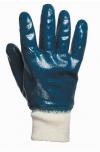 Перчатки  рабочие МБС х/б-нитрил синие с трикотажным манжетом