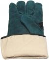 изнаночная сторона перчатки с крагами спилковой зеленой